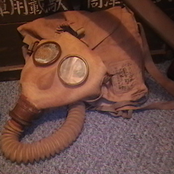 WW II Japanese Gas Mask and Carrying Bag