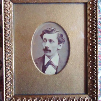Old photo I bought goodwill? Who is he? Dated on back of frame 1874 - Photographs