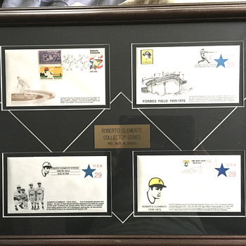Roberto Clemente framed envelopes