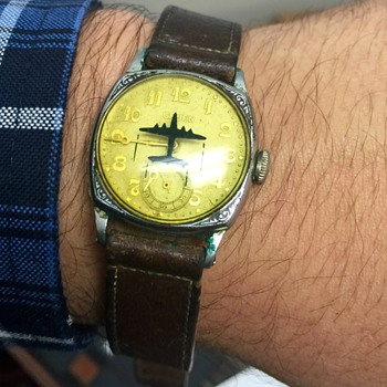 Gruen Airport? with Plane on Crystal, Can anyone tell me about this piece - Wristwatches
