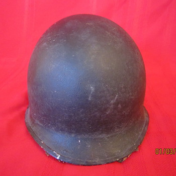 Rare USA WWII WW2 Fixed Bales Steel Pot United Carr Helmet w/Hawley Fiber Liner