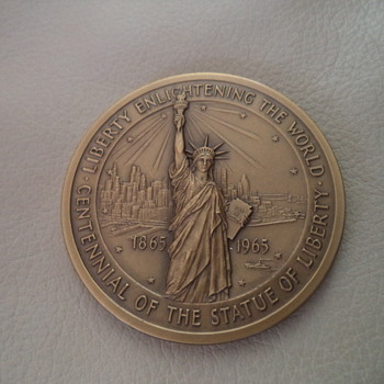 1865-1965 Centennial of the Statue of Liberty Bronze Medal