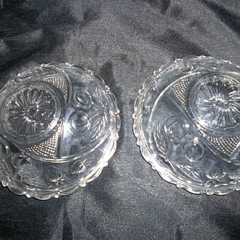 two small possibly eapg fruit pattern gold gilt bowls