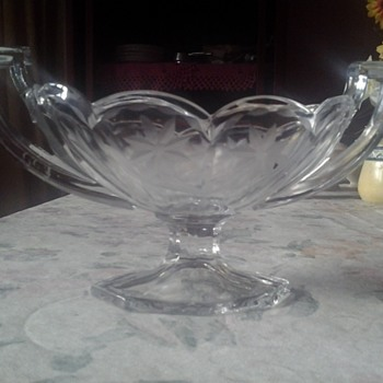 etched glass dish - Glassware