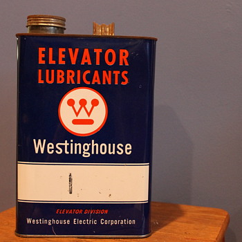 Incredibly Unusual Westinghouse Elevator Lubricants Can