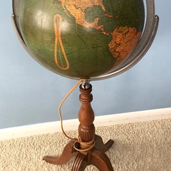 "12"" Glass Lighted Library Globe..."