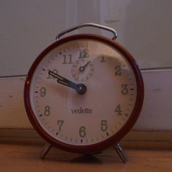 Vintage 1980's French Vedette alarm clock. - Clocks