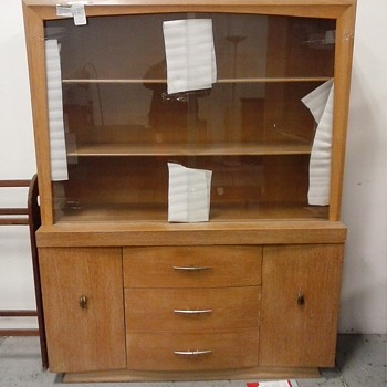"""Heywood Wakefield"" Style Birch China Cabinet/Circa 1950's-60's"