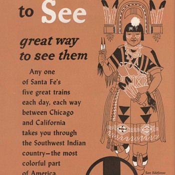 1952 - Sante Fe Railroad Advertisement