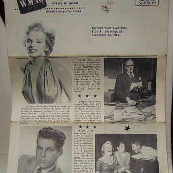 1952 WMAQ Grocery Magazine Marilyn Monroe Cover