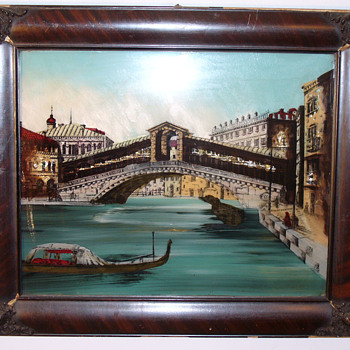 Venice Reverse Painting, Print and foil.....