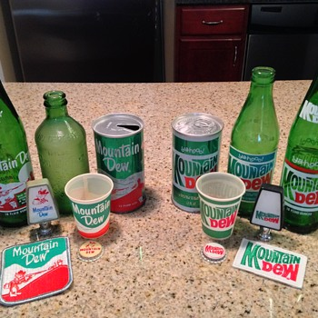 Mountain Dew - First and Second Generation Collectibles - Bottles