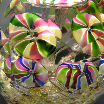 2 Bohemian Paperweights c.1900 - Art Glass