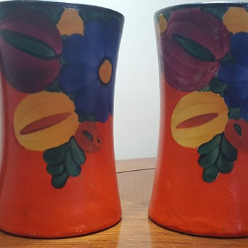 Pair of Hand Painted Mugs