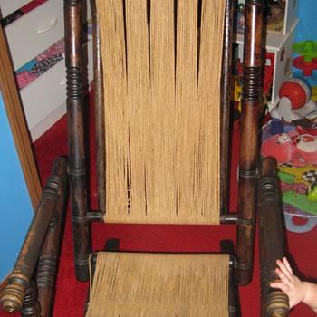 Spool Rocking Chair - Furniture