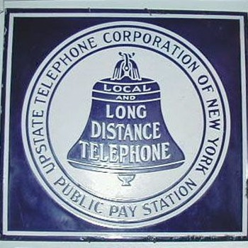 Upstate Telephone Corporation of New York Pay Station Sign - Telephones