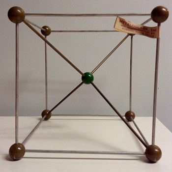 Mid Century Metaloglass, Inc. Sculptural Molecular Model Cesium Chloride