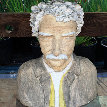 SMIKESELL?? - Pottery Busts of Schweitzer and Einstein?