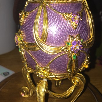 House of Faberge Franklin Mint Sterling Egg