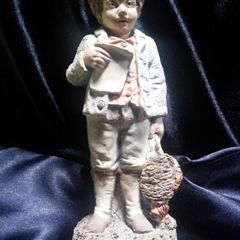 One of the first Royal Dux figurines 1860 signed by the man himself.