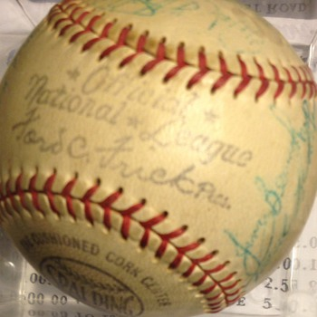 1958 -Ford C. Frick White Rose  official minor league Team Signed Baseball  - Baseball