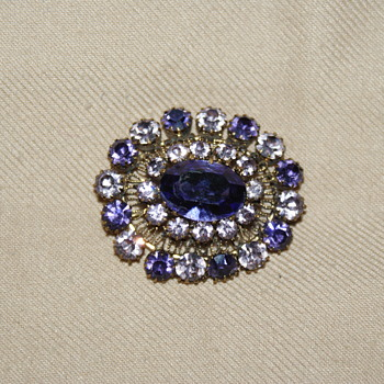"Costume Brooch Marked ""Austria"""