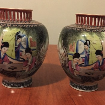 Asian pair of vases