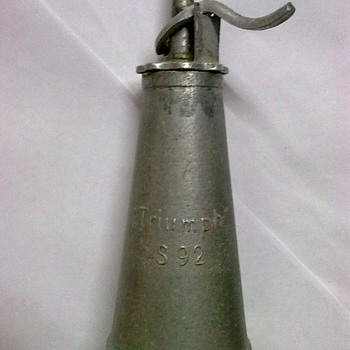 Triumph oil can.