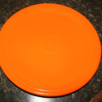 "Fiesta ""Chop"" Plate in Red - China and Dinnerware"