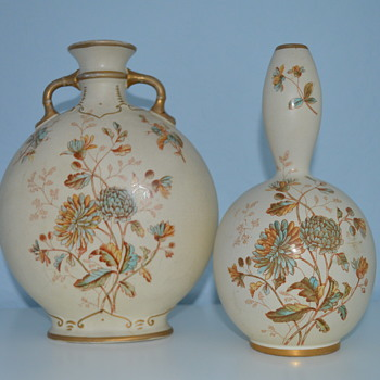 S. Fielding & Co ivory vases - Art Pottery