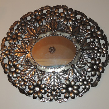 "Decorative Mirror Marked ""Ser-Mel Hecho En Mexico"" - Furniture"