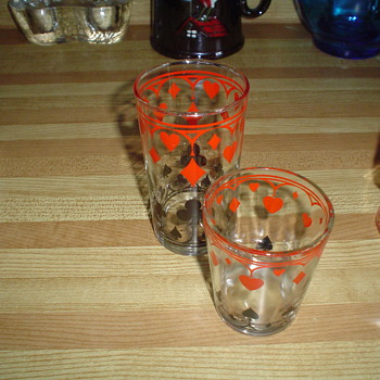 Poker style glasses / jar