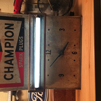 Champion Spark Plug sign/clock