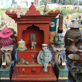 Ganesh Altar Getting Set up - Asian