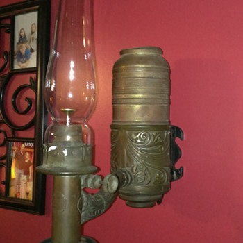 Old Dayton Brass car lamp