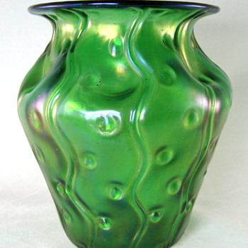 "Loetz Creta ""Zig Zag and spots"" decor. - Art Glass"