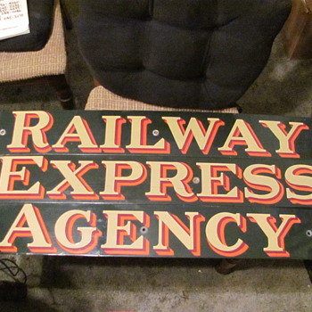 R.E.A. porcelain signs