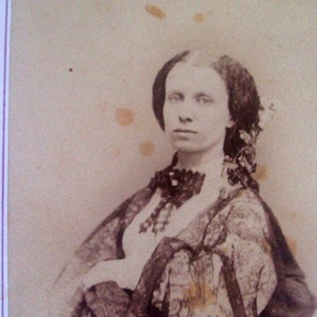 Famed Broadway Photographer C.D. Fredricks,Took This Late 1850's Actress?