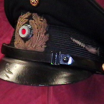 WW II Kriegsmarine NCO Visor Cap U 106 - Military and Wartime