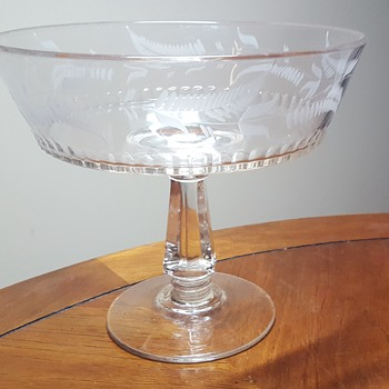 Riverside Glass Works #3 Engraved Compote