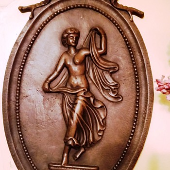Antique Cast Iron Wall Plaque