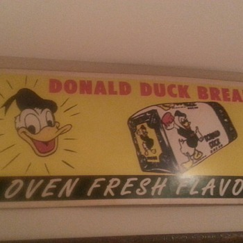 Donald Duck bread sign