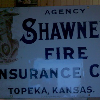 Shawnee Fire Insurance Co. - Ceramic Sign - Advertising