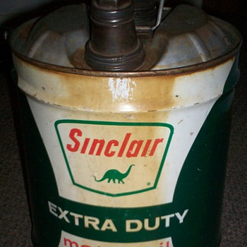 Vintage Sinclair Motor Oil 5 Gallon Can - Petroliana