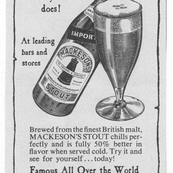 1950 Mackeson&#039;s Stout Advertisement