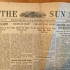 "1918 Soldiers Newspaper,  "" THE SUN'or baby Sun,  ( Baltimore)  OVER SEAS Edition."