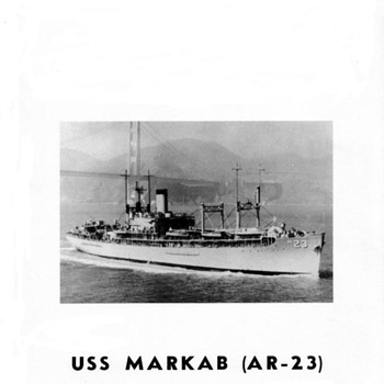 USS MARKAB (AR-23) Telescopic Alidade - Military and Wartime