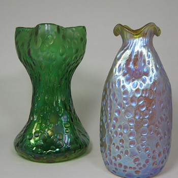Loetz Diaspora Vases Creta and Candia Silberiris  - Art Glass