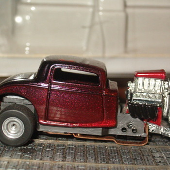 H.O. 34 FORD DRAGSTER CUSTOM T-JET CHASSIS - Model Cars
