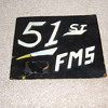 51st Fighter Wing metal Trench Art sign